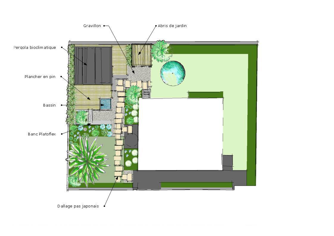Plan de bassin de jardin conception jardin design bassin for Plan jardin anglais
