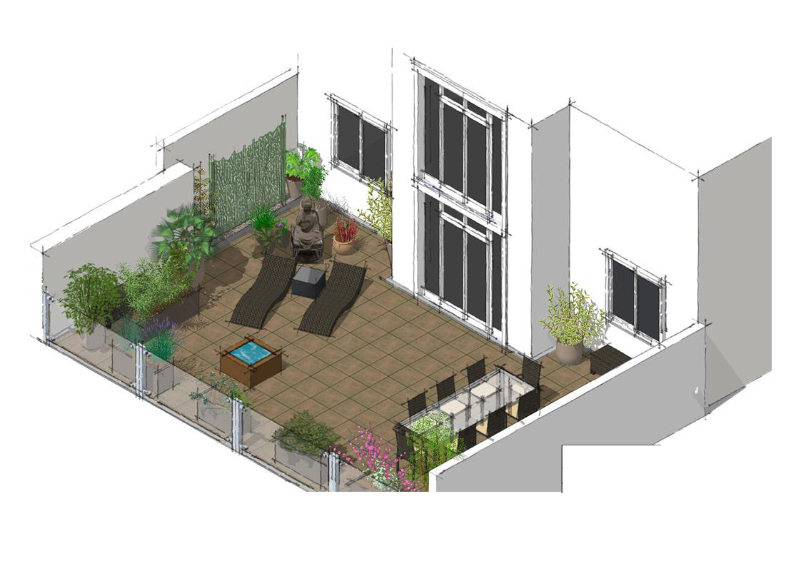 Amenagement terrasse zen best idee deco salon ambiance zen idee dco balcon zen with amenagement - Amenagement jardin japonais nanterre ...