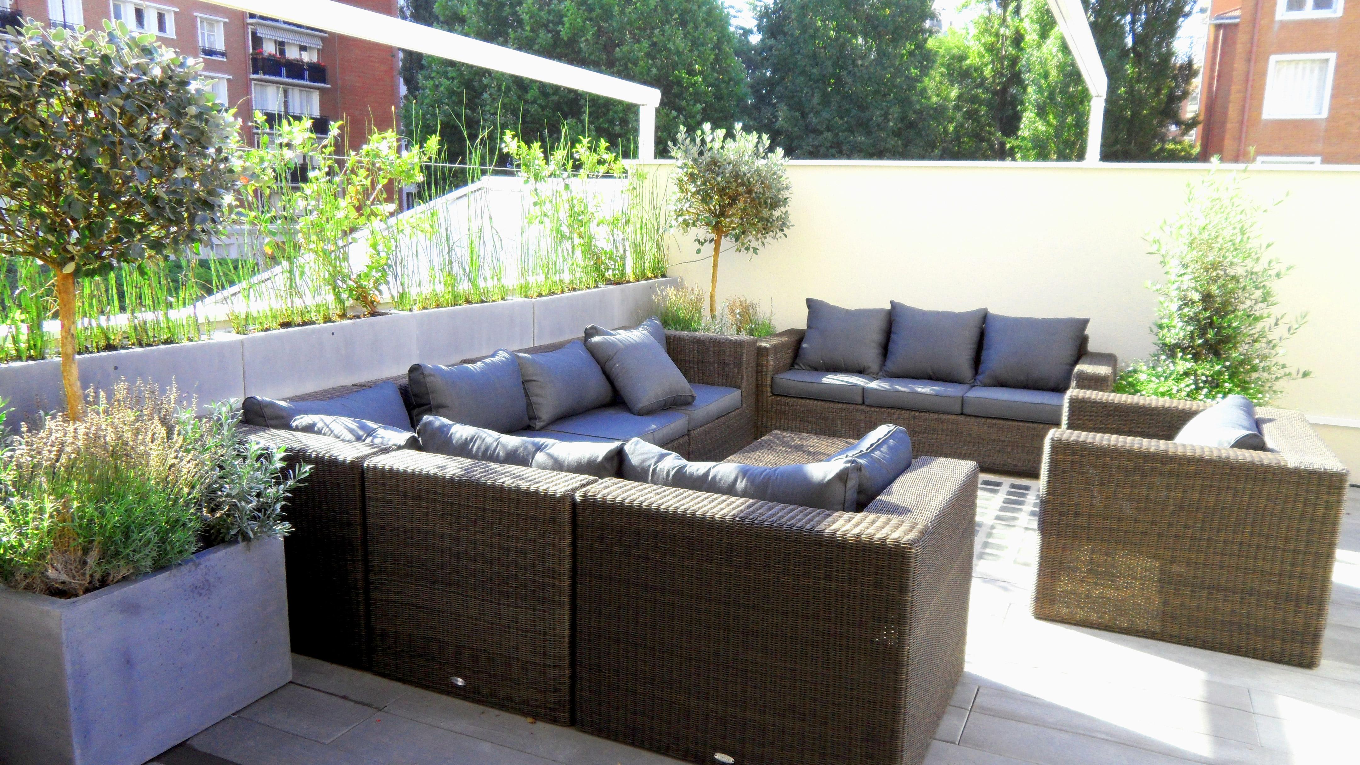 Terrasse et balcon paysagiste paris 75 apex paysage - Mobilier jardin amazon boulogne billancourt ...