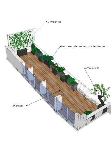 terrasse et balcon paysagiste paris 75 apex paysage. Black Bedroom Furniture Sets. Home Design Ideas