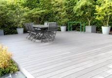 Réalisation du plancher en lame timbertech, Sceaux