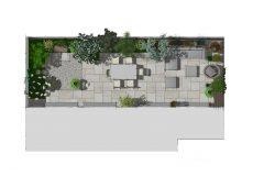 Plan de l'étude d'un jardinet