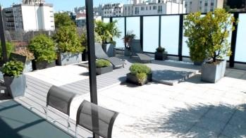 Toit terrasse après aménagement