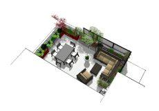 Vue 3D d'un projet terrasse