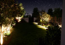 Projet de mise en lumière d'un jardin